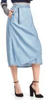 Gap 1969 Tencel® denim wrap skirt