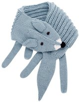 Peppercorn Kids Girls Cozy Fox Scarf (Toddler/Kids) - Frost Blue - One Size