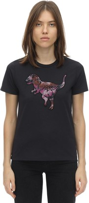 Coach Kaffe Rexy Embroidered Cotton T-shirt