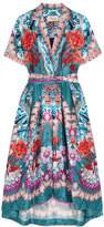 Temperley London Pipe Dream Printed Silk Midi Dress - Blue
