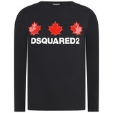 DSQUARED2 Dsquared2Girls Navy Long Sleeve Jersey Top