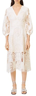 Maje Romy Lace Illusion Hem Dress