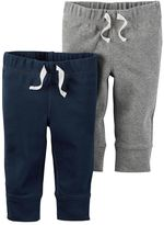 Carter's Baby Boy 2-pk. Solid Jogger Pants