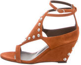 Giuseppe Zanotti Studded Suede Wedges w/ Tags