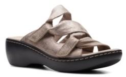 Clarks Collection Women's Delana Jazz Flat Sandals Women's Shoes
