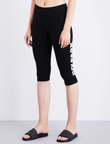 Ivy Park Logo-print high-rise cotton-jersey leggings