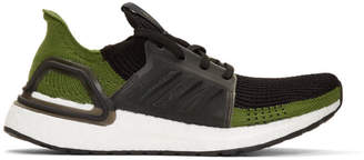 adidas Black and Green Ultraboost 19 Sneakers