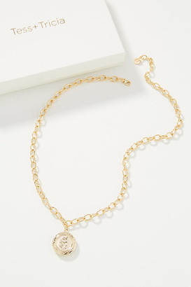 Tess + Tricia Bloom Locket Necklace By in Gold