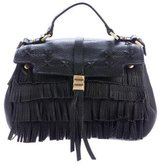 Brian Atwood Fringe Leather Crossbody Bag