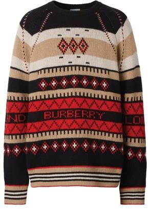Burberry Fair Isle Cashmere Sweater