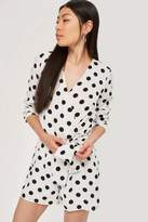 Oh My Love **Long Sleeve Wrap Playsuit