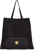 Versace Black Convertible Nylon Tote