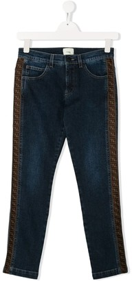 Fendi Kids TEEN FF tape jeans