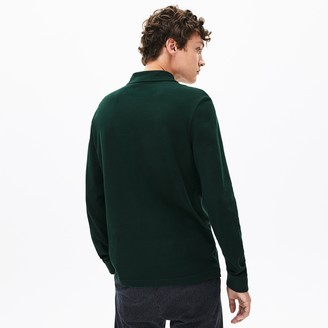 Lacoste Men's Regular Fit Croco Magic Long Sleeve Polo