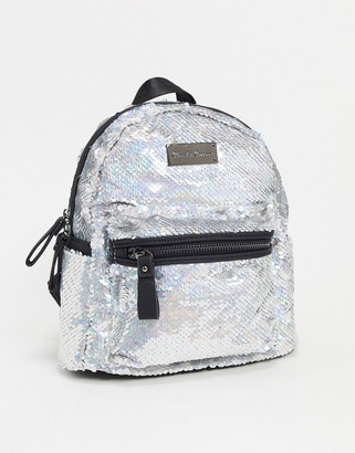 Claudia Canova Sequin Mini Backpack