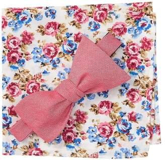 Nordstrom Rack Lonspur Solid Bow Tie & Pocket Square Set