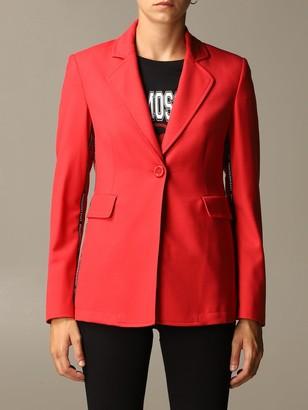 Love Moschino Blazer Jacket With Mini Logoed Bands