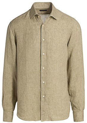 Saks Fifth Avenue COLLECTION Solid Linen Shirt