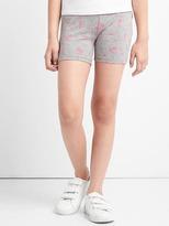 Print stretch jersey cartwheel shorts