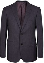 Pal Zileri Dark Purple Houndstooth Wool Blazer