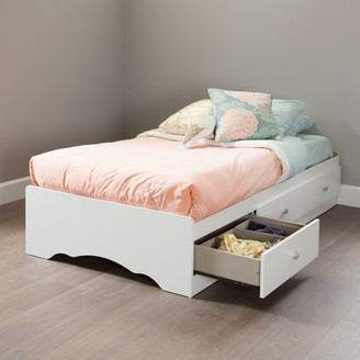 South Shore Tiara Twin Storage Bed (39'') with 3 Drawers, White