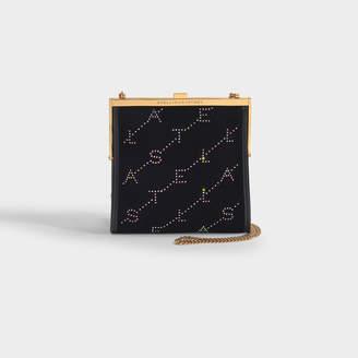 Stella McCartney Mini Frame Bag Monogram Monogram Velvet Crystal