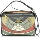 Gattinoni Planetarium Coated Canvas and Leather Shoulder Bag