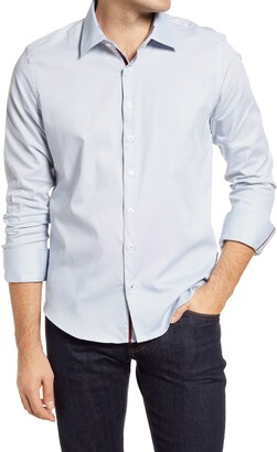 Stone Rose Dry Touch Microdot Performance Button-Up Shirt