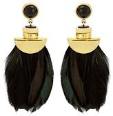 Lizzie Fortunato Eagle feather-drop earrings