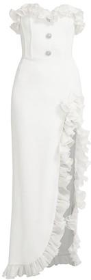 Alessandra Rich Strapless Ruffled Dress