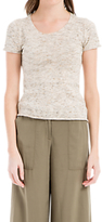Max Studio Short Sleeve Knitted Top, Oatmeal