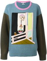 Olympia Le-Tan skeleton embroidered jumper