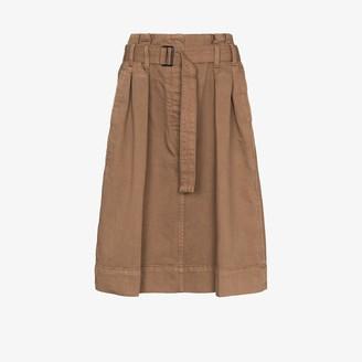 Lemaire Pleated knee-length skirt