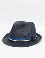Fred Perry Straw Trilby Hat