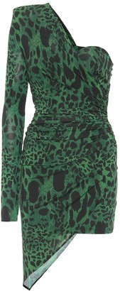 Alexandre Vauthier Leopard-print one-shoulder minidress