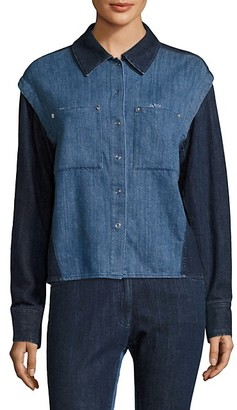 Public School Nora Quasay Denim Long-Sleeve Shirt