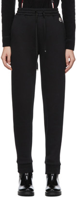 Moncler Black Grosgrain Drawstring Lounge Pants