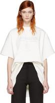 Vetements White Hanes Edition Oversized Double Antwerpen T-shirt