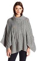 Jessica Simpson Women's Luxor Oversized Poncho Sweater