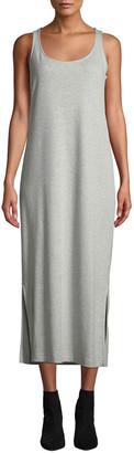 Joan Vass Petite Scoop-Neck Tank Dress with Side Slits