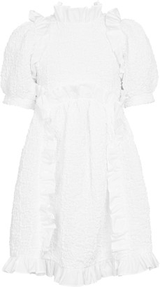 Cecilie Bahnsen Lotta cotton-blend cloque minidress