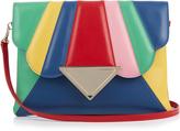 Sara Battaglia Bess rainbow leather clutch