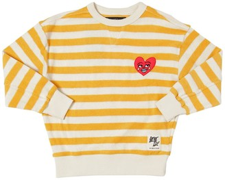 Finger In The Nose Striped Cotton Terry Sweatshirt
