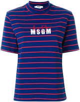 MSGM X Diadora high-neck striped T-shirt
