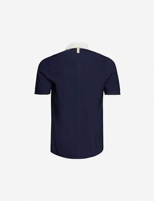 Prevu Salvtre contrast-collar classic-fit shell polo shirt
