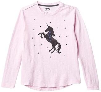 Appaman Adaptive Kids Unicorn Galaxy Elara T-Shirt (Little Kids/Big Kids) (Rose) Girl's Clothing