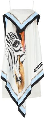 Burberry Animalia Print Scarf Dress