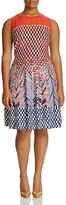 NIC and ZOE Plus Fiore Graphic Print Twirl Dress
