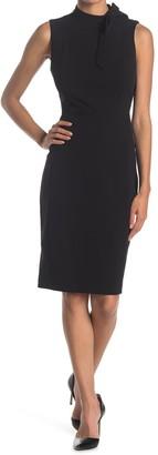 Calvin Klein Sleeveless Tie Neck Sheath Dress
