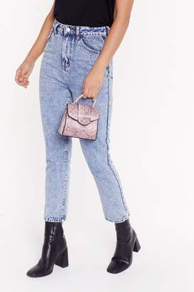 Nasty Gal Womens WANT Snake a Chance on Me Mini Belt Bag - pink - One Size
